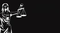 cartão de visita Advogado elegante: deusa e preto