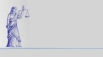 cartão de visita Advogado clássico: deusa e cinza