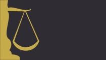 cartão de visita Advogado moderno: balança e amarelo com preto
