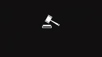 cartão de visita Advogado clássico: martelo e preto