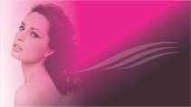 cartão de visita Cabeleireiros estética: mulher cabelo-cacheado e lilás