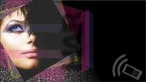 cartão de visita Cabelereiros moderno: mulher e preto