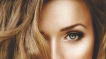 cartão de visita Cabeleireiros criativo: mulher loira cabelo-liso e marrom