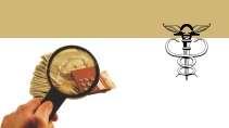 cartão de visita Contabilidade monetário: lupa dinheiro simbolo mão e marrom