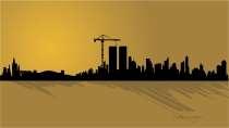 cartão de visita Engenharia civil: prédios e laranja