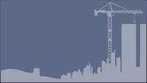 cartão de visita Engenharia civil: prédios e cinza