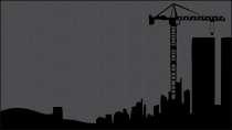 cartão de visita Engenharia civil: prédios e preto
