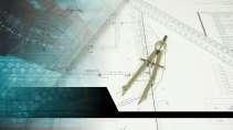 cartão de visita Engenharia cartográfica: compasso, esquadro e azul