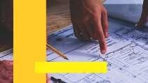 cartão de visita Engenharia produção: mapa e amarelo