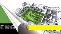 cartão de visita Engenharia arquitetura: projeto planta casa e verde