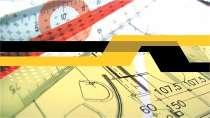 cartão de visita Engenharia cartográfica: régua esquadro e amarelo