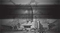 cartão de visita Engenharia arquitetura: cidade e preto