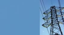 cartão de visita Engenharia elétrica: torre e azul