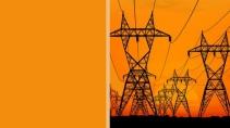 cartão de visita Engenharia elétrica: energia torre e alaranja