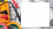 cartão de visita Engenharia elétrica: multímetro e branco