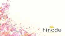 cartão de visita Hinode fidelidade: flores e amarelo com rosa