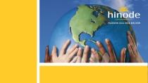 cartão de visita Hinode criativo: pessoas e amarelo com azul