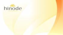 cartão de visita Hinode moderno: curvas e amarelo
