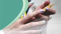 cartão de visita Manicure criativo: verde