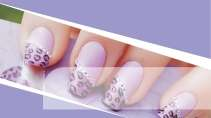 cartão de visita Manicure francesinha: lilás