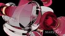 cartão de visita Mary Kay moderno: perfume e lilás com preto