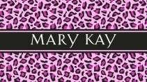 cartão de visita Mary Kay estampado: onça e rosa