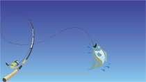 cartão de visita Pesca