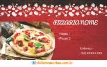 Modelos de cartão de visita Pizzaria