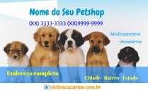 cartão de visita Petshop e Veterinário