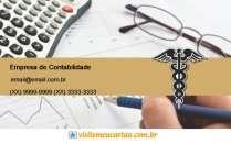 cartão de visita Contabilidade escritório: simbolo calculadora óculos e marrom com branco
