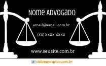 cartão de visita Advogado elegante: balança e preto