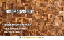 cartão de visita Advogado moderno: madeira e marrom