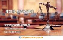cartão de visita Advogado balança e marrom