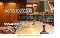 cartão de visita Advogado madeira e marrom