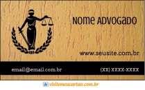 modelo de cartão de visita Advogado MBHZADV4