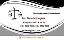 cartão de visita Advogado profissional: balança e preto cinza branco