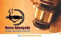 modelo de cartão de visita Advogado MBHZADV43