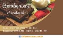 Modelos de cartão de visita Bomboniere