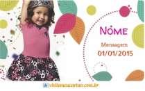 Modelos de cartão de visita Moda infantil