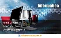 Modelos de cartão de visita Informática
