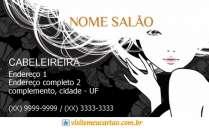 cartão de visita Cabelereiros criativo: mulher flor e preto