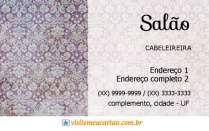 cartão de visita Cabelereiros criativo: arabesco e cinza