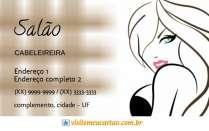 cartão de visita Cabelereiros ilustrado: mulher batom marrom