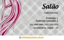 cartão de visita Cabelereiros criativo: mulher e lilás com cinza