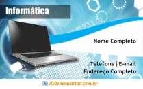 cartão de visita Informática