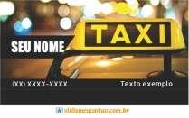 modelo de cartão de visita Táxi MBHZTAX1