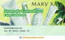 cartão de visita Mary Kay beauty: cosméticos e verde