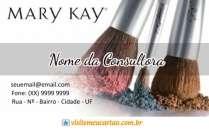 cartão de visita Mary Kay consultora: pincel e branco