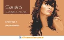 cartão de visita Cabelereiros criativo: mulher cabelo-liso e marrom