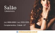 cartão de visita Cabeleireiros moderno: mulher cabelo-cacheado e marrom